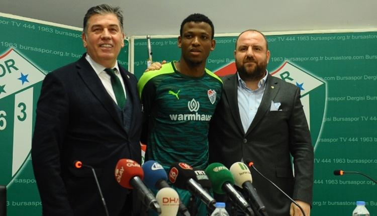 Bursaspor'un yeni transferi Abdullahi Shehu: 'Büyük başarılar elde edebiliriz'
