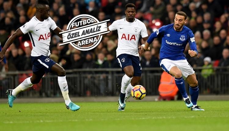 Cenk Tosun, Tottenham - Everton maçında takımın en iyisi oldu