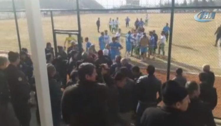 Erzincan'daki maçta büyük kavga! Futbolcu gözaltına alındı