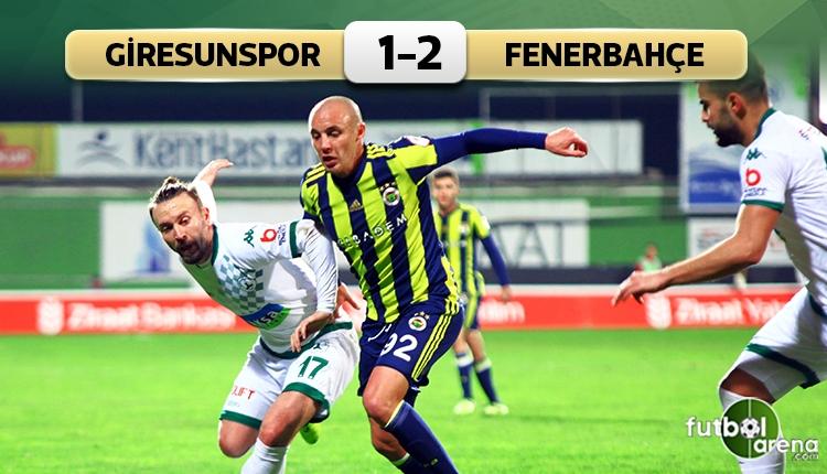 Giresunspor 1-2 Fenerbahçe maç özeti ve golleri (İZLE)