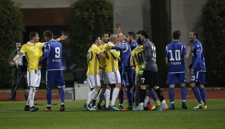 Fenerbahçe - Kukesi maçında saha karıştı! Volkan Demirel çıldırdı