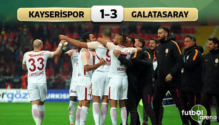 Kayserispor 1 - 3 Galatasaray maçın özeti ve golleri (İZLE)