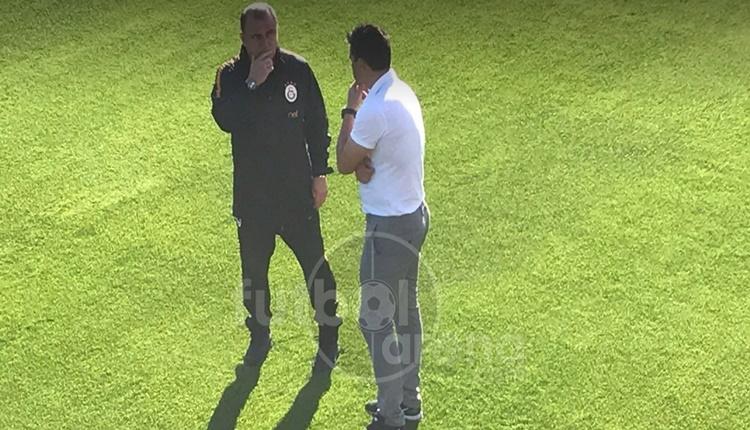 Galatasaray antrenmanında Cosmin Contra'dan sürpriz ziyaret