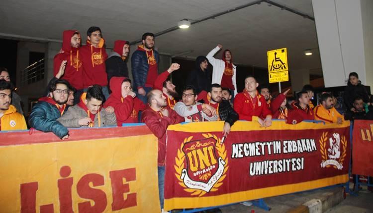 Galatasaray kafile başkanı Abdürrahim Albayrak ile Konya deplasmanında