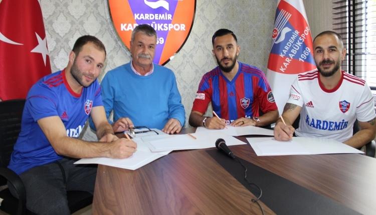 Karabükspor'danMurat Akın, Yusuf Akbulut ve Alican Karadağ'a imza