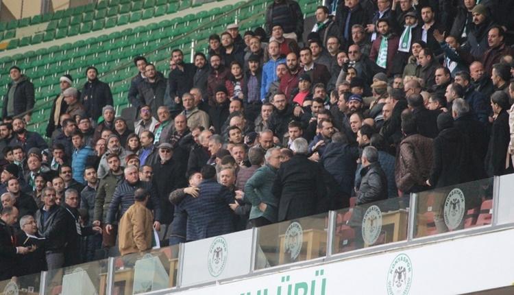Konyaspor - Trabzonspor maçında protokol karıştı! Yöneticinin kaşı açıldı...