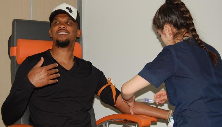 Konyaspor'da Samuel Eto'o sağlık kontrolünden geçti