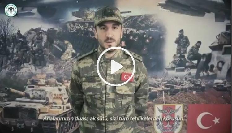 Konyasporlu futbolculardan Afrin'deki askerlerimiz için klip