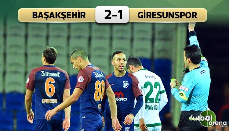 Medipol Başakşehir 2-1 Giresunspor maç özeti ve golleri (İZLE)