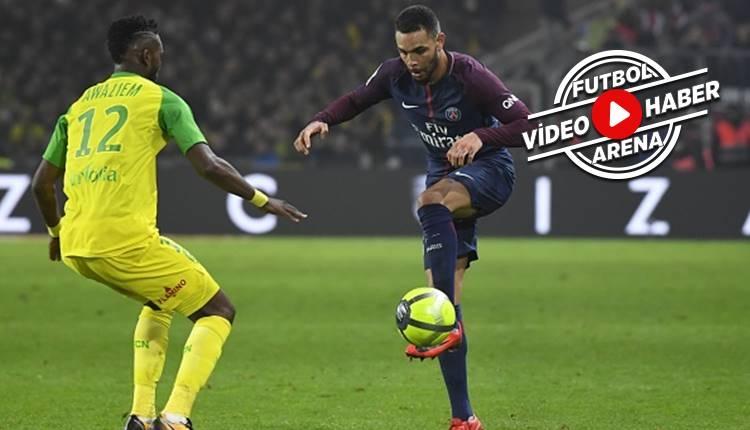 Nantes - PSG maçında görülmemiş olay! Hakemden futbolcuya tekme (İZLE)