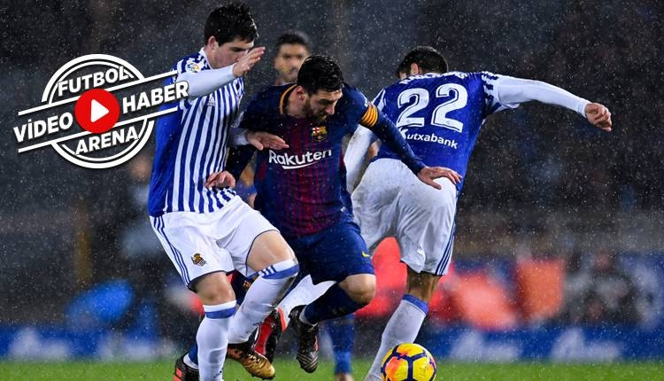 Real Sociedad 2-4 Barcelona maçı özeti ve golleri (İZLE)