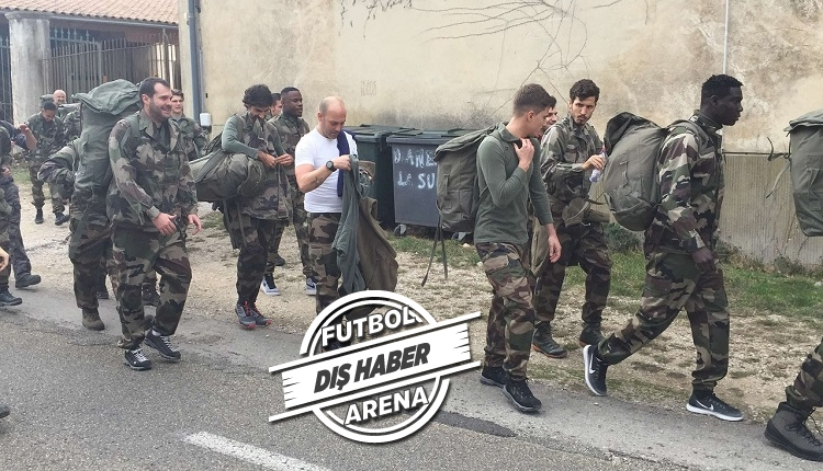 Salih Uçan ve takımı Sion askeri kampta