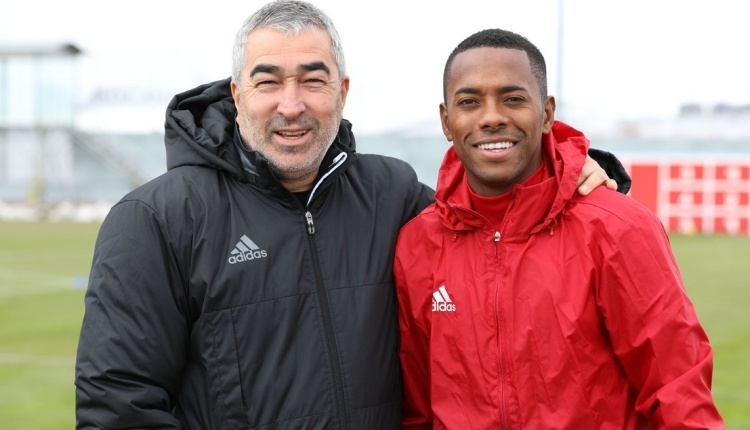Sivasspor'da Robinho, ilk antrenmanına çıktı