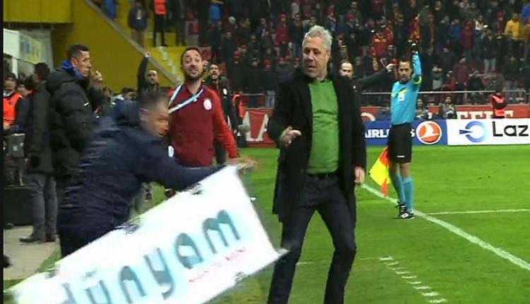 Sumudica Kayserispor maçında çıldırdı! Sağlık görevlilerine patladı