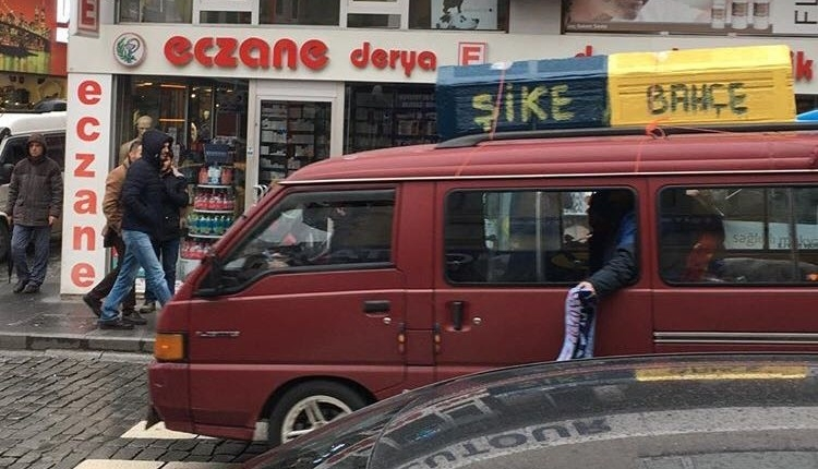 Trabzonspor sokaklarında Fenerbahçe maçı öncesi sokaklarda şok tabut görüntüsü