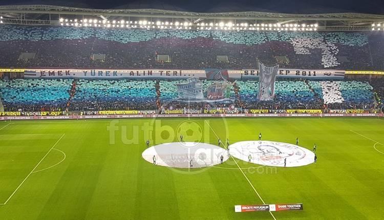 Trabzonspor taraftarının Fenerbahçe maçındaki koreografisi