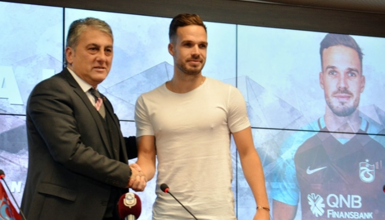 Trabzonspor'un yeni transferi Filip Novak: 'Takım oyuncusuyum'