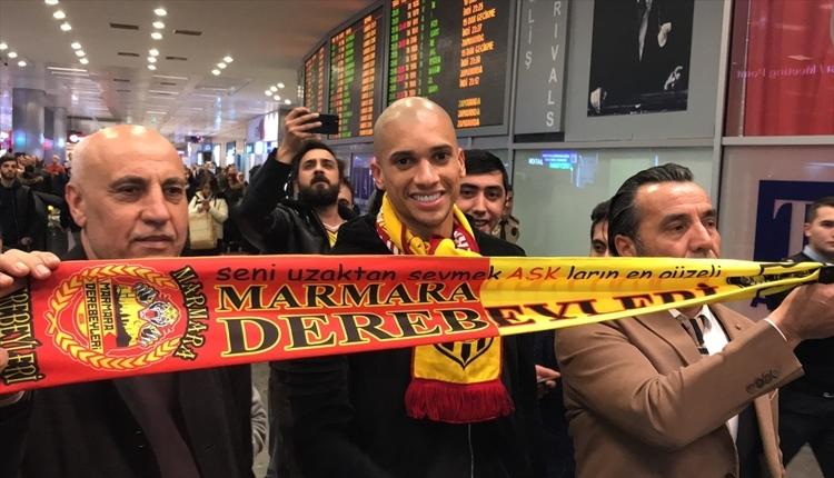 Yeni Malatyaspor'un yeni transferi Doria, İstanbul'a geldi