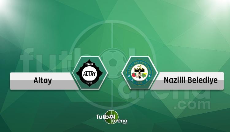 Altay - Nazilli Belediyespor maçı saat kaçta hangi kanalda? (Canlı skor iddaa)