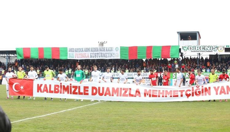 Amedspor'dan Mehmetçik'e destek pankartı