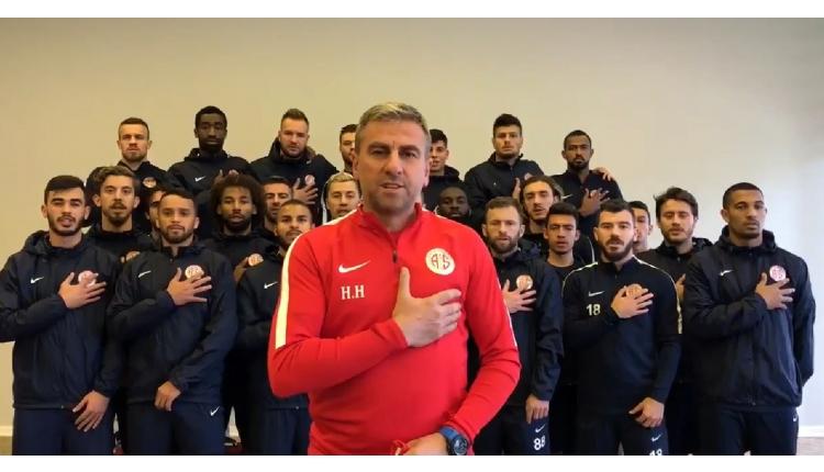 Antalyaspor'dan Afrin'deki Mehmetçik'e imzalı forma (İZLE)