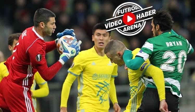 Astana 1-3 Sporting Lizbon maçı özeti ve golleri (İZLE)