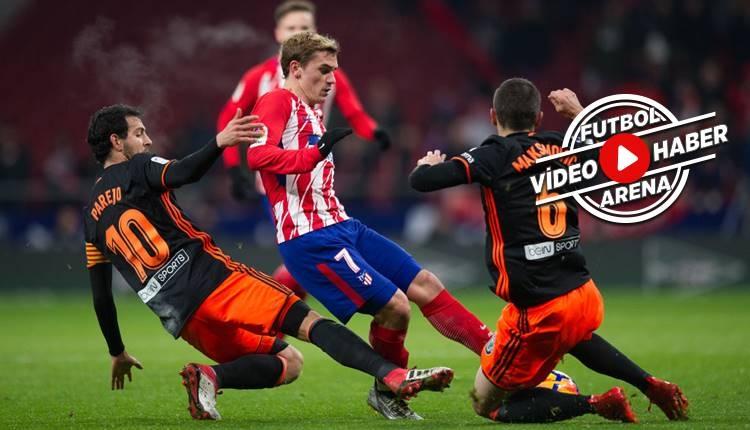 Atletico Madrid 1-0 Valencia maçı özeti ve golü (İZLE)