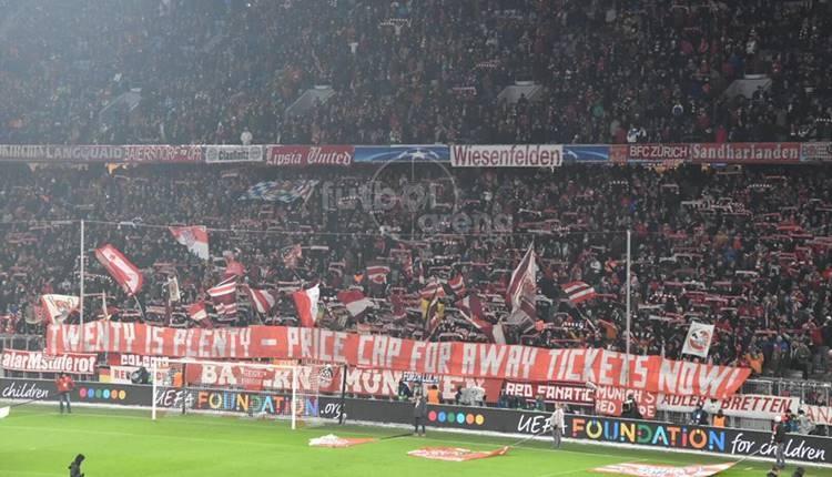 Bayern Münih taraftarlarından protesto