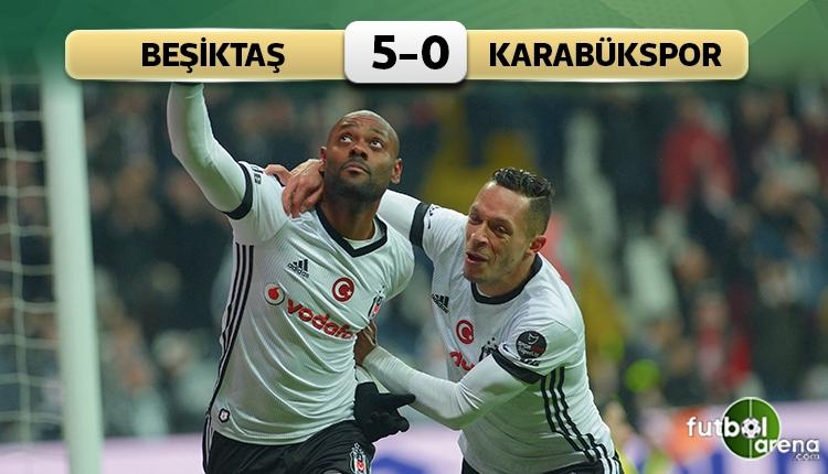 Beşiktaş 5-0 Karabükspor maç özeti ve golleri (İZLE)