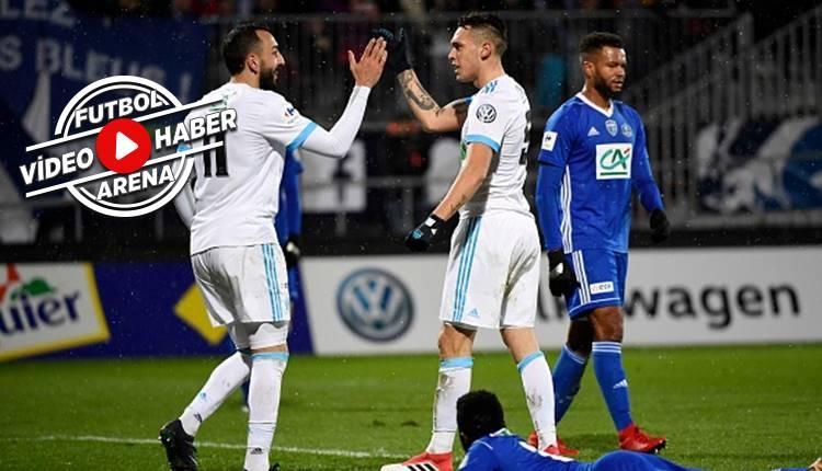 Bourg en Bresse 01 0-9 Marsilya maçı özeti ve golleri (İZLE)