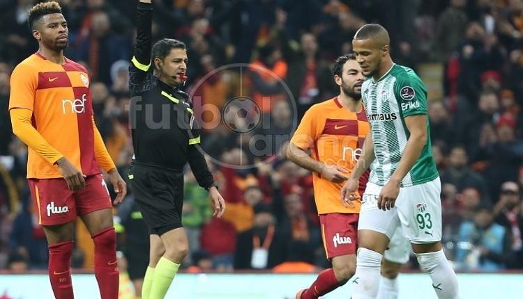Bursaspor'da Ekong, Galatasaray maçında takımını yaktı