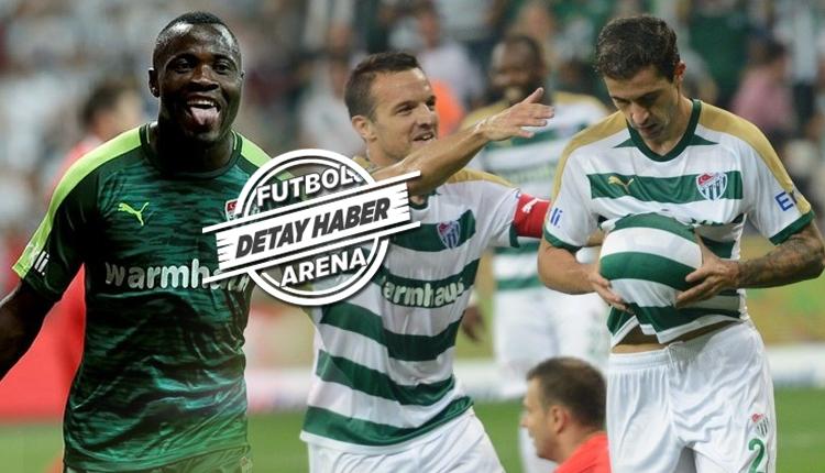Bursaspor'un Galatasaray kozu öndeki 3'lü