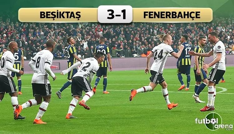 Beşiktaş 3-1 Fenerbahçe maç özeti ve golleri (İZLE)