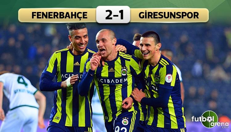 Fenerbahçe 2-1 Giresunspor maçı özeti ve golleri (İZLE)