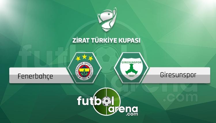 Fenerbahçe - Giresunspor maçı saat kaçta, hangi kanalda? (İddaa canlı skor)