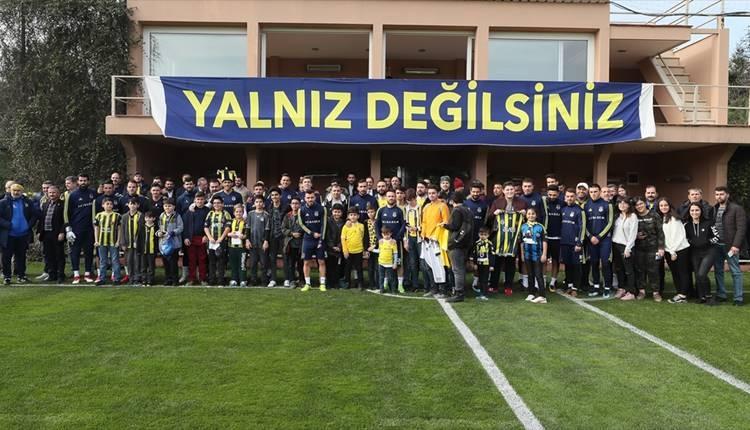 Fenerbahçe taraftarından takıma büyük destek