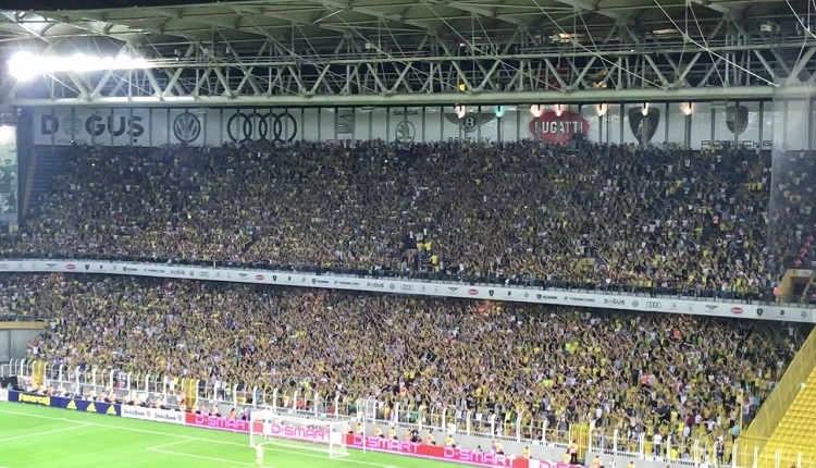 Fenerbahçe taraftarlarından Beşiktaş'a küfür