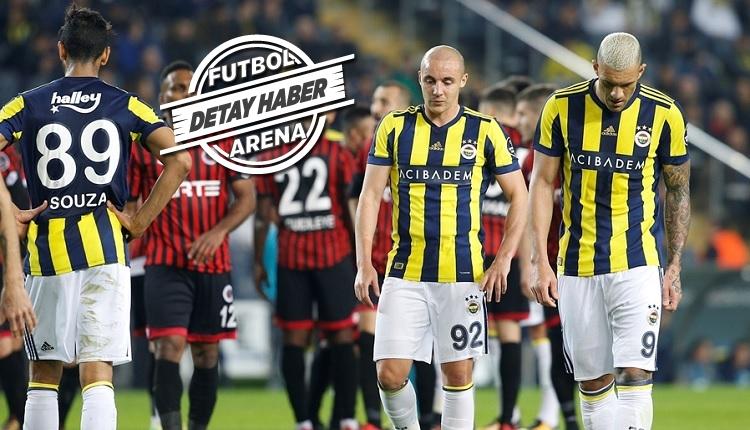Fenerbahçe'de ilginç detay! 2 puanlık kayba rağmen