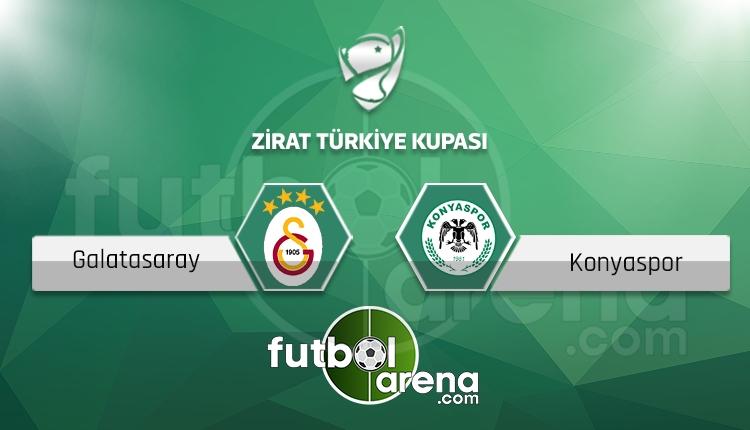 Galatasaray - Atiker Konyaspor Ziraat Türkiye Kupası maçı saat kaçta, hangi kanalda? (Canlı skor iddaa)