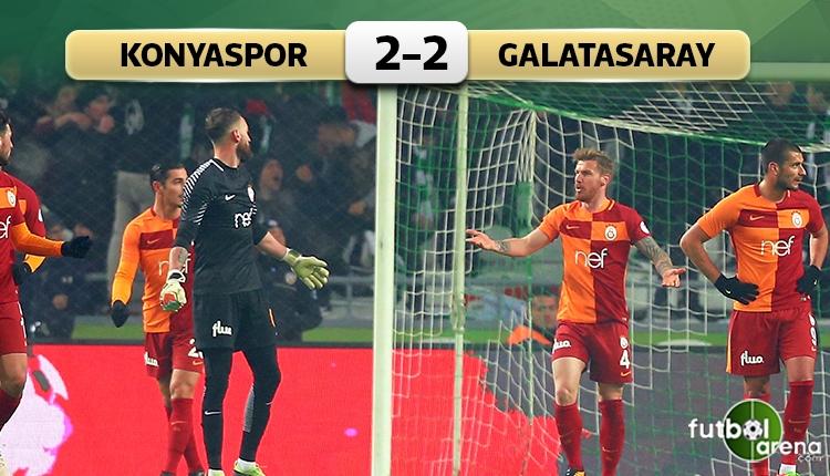 Galatasaray Konya'da avantajı kaptı