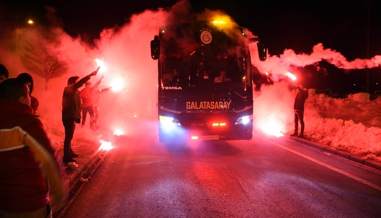 Galatasaray'a Sivas'ta coşkulu karşılama! Kadro belli oldu