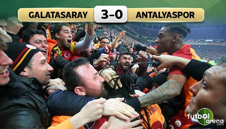 Galatasaray 3 - 0 Antalyaspor maçın özeti ve golleri (İZLE)