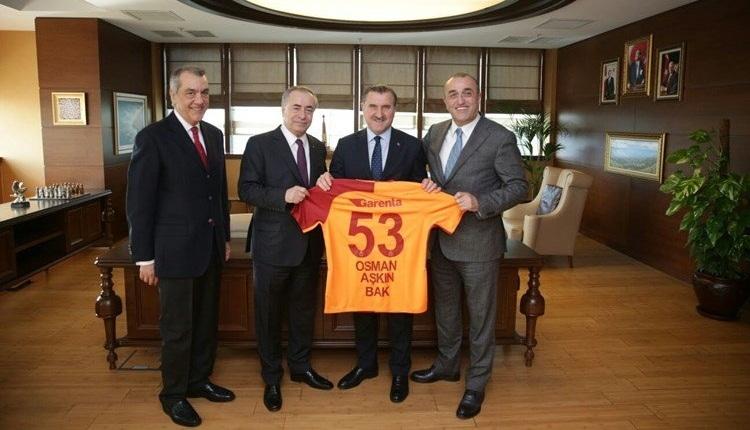 Galatasaray'ın yeni yönetimi hükümete konuk oldu