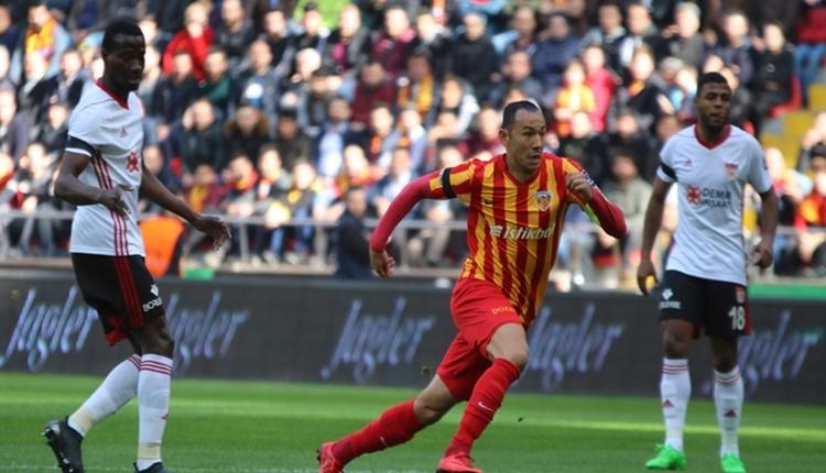 Kayserispor 1 - 1 Sivasspor maçın özeti ve golleri