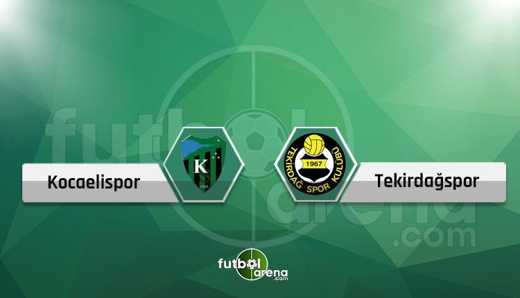 Kocaelispor - Tekirdağspor maçı canlı ve şifresiz İZLE