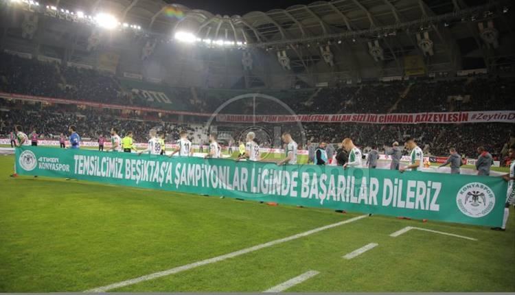 Konyaspor'da Beşiktaş'a jest