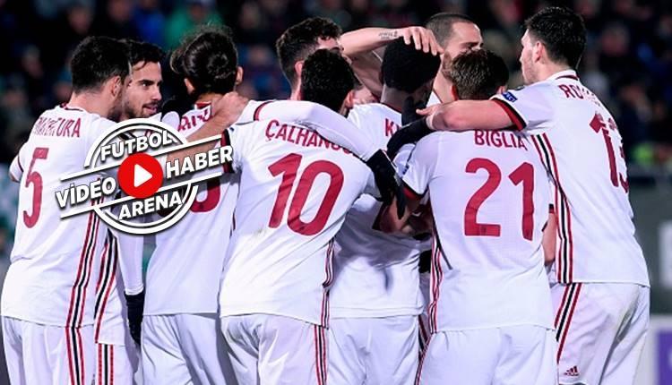 Ludogorets 0-3 Milan maçı özeti ve golleri (İZLE)