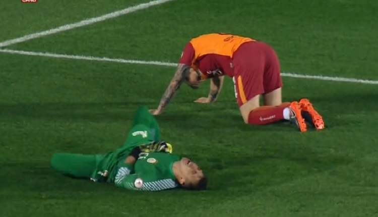Muslera Akhisar - Galatasaray maçında korkuttu! Serdar Aziz ile bir anda...