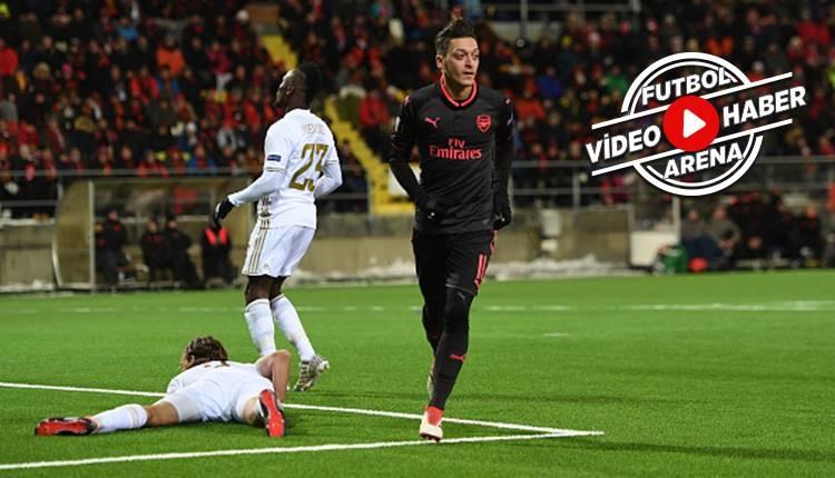 Östersunds 0-3 Arsenal maçı özeti ve golleri (İZLE)