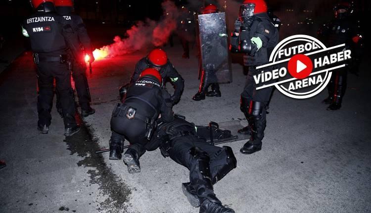 Rus taraftarlar İspanya'da olay çıkardı, 1 polis öldü! (İZLE)